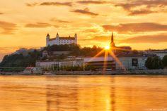 The setting sun in Bratislava by Miroslav Petrasko on 500px