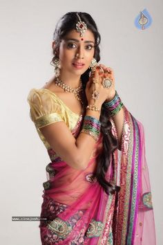 Saree Blouse & Jewelry  see more inspiration @ http://www.ModernRani.com
