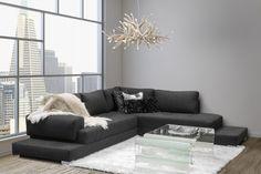 Sofa sectionnel tissu - ST516   Boutique Tendance