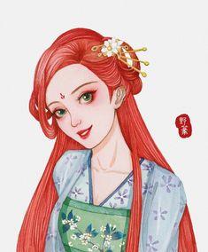 Khi các nàng công chúa Disney xuyên không đến Trung Quốc thời cổ đại Ariel Disney, Cute Disney, Disney Magic, Disney Fan Art, Disney Princess Art, Disney And Dreamworks, Disney Pixar, Disney Characters, Disney Movies To Watch