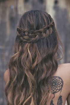 Fashion / Dip Dyed Hair / Brown Ombre Hair Hair and Beauty Tutorials / Search Results for ombre hair Pretty Hairstyles, Braided Hairstyles, Wedding Hairstyles, Style Hairstyle, Braided Updo, Hairstyle Ideas, Hairstyles Haircuts, Prom Hairstyles For Long Hair Half Up, College Hairstyles