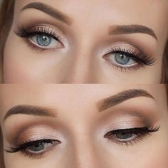 nice 20 Eye Makeup Looks you will love - Page 33 of 35 - Makeup With Tea - Weddings and Events Beach Wedding Makeup, Natural Wedding Makeup, Bridal Hair And Makeup, Wedding Hair And Makeup, Natural Makeup, Blonde Hair Makeup, Makeup Hairstyle, Hairstyle Ideas, Day Makeup