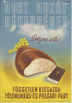 Original Vintage Propaganda Poster 1945 Hungary Bread 25x17cm M 25 | eBay