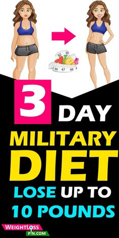 The 3 Day Military Diet: Lose up to 10 Pounds in 3 Days How To Lose Weight In 7 Days Fast Weight loss Diet Plan. Lose up to 10 pounds in just 3 days. The 3 day Military Diet food plan detailed with ph. Fast Weight Loss Diet, Healthy Weight Loss, How To Lose Weight Fast, Loose Weight, Reduce Weight, Lose Fat, Three Day Diet, 3 Day Diet, Lose 10 Pounds In A Week
