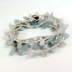 Easy hemp and sea glass bracelet, must make this!