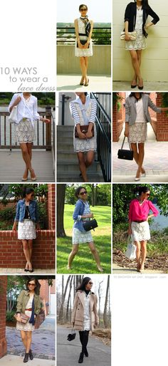 to brighten my day: 10 Ways to Wear a Lace Dress