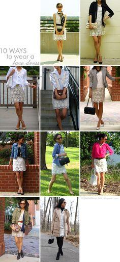 10 Ways to Wear a Lace Dress