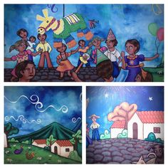 Beautiful art, painted on walls at Ataco, El Salvador. This type of art is very characteristic of this town, there's a lot of different ones.