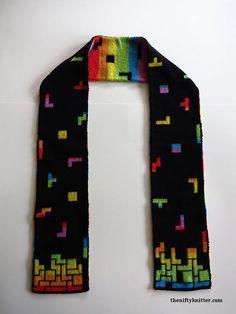 Knitting Pattern Tetris Prism Scarf | Etsy Double Knitting Patterns, Knitting Charts, Free Knitting, Scarf Patterns, Opposite Colors, Crochet Dragon, Knitting Projects, Knitting Ideas, Scarf Design