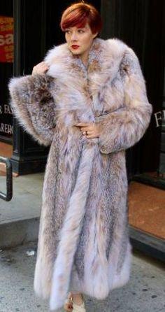 Full Length Canadian Lynx fur Coat Shawl Collar 377 Image