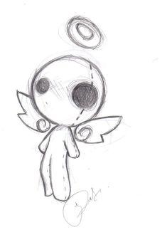 voo angel form once again by suicidal-voodoo-doll on DeviantArt Indie Drawings, Creepy Drawings, Dark Art Drawings, Art Drawings Sketches Simple, Cute Drawings, Beautiful Easy Drawings, Pencil Drawings, Doll Drawing, Funky Art