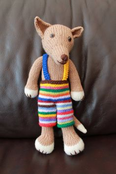 Handmade hand knitted soft toy dog called by AlisKnitShop on Etsy