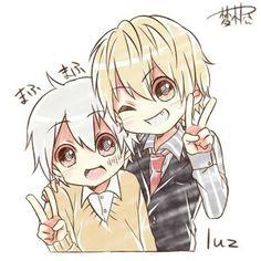 Luz and Mafumafu Anime Oc, Kawaii Anime, Manga Anime, Vocaloid, Chibi Boy, Anime Child, Anime Stickers, Sword Art Online, Anime Couples