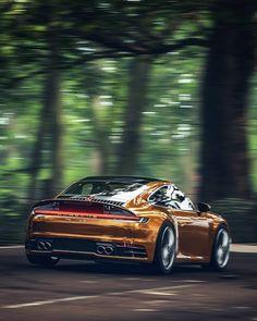 Porsche 992 in Regung Porsche Sports Car, Porsche Cars, Porsche Classic, Classic Cars, Bugatti, Design Autos, Bmw Autos, Audi Rs6, Cars And Coffee
