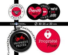 Propriété Privée ☆ 45 Images RONDES – Cabochon.fr ® Image Digital, Collage, Scrapbooking, Images, Creations, Dimensions, Fresh, Jewerly, Collages