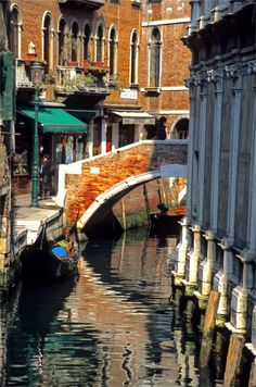 Canal Next To Church Of The Miracoli In Venice.  Photograph By Michael Henderson