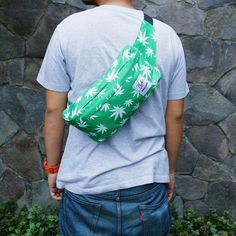 Waist Bag Marijuana Green from CUB TRAVELER, let's go green lads!!, #bags #backpackerindonesia #waistbags #slingbags #tasmurah #traveler #traveling #style #weed #green #modernoutdoorsman #products #outdoor