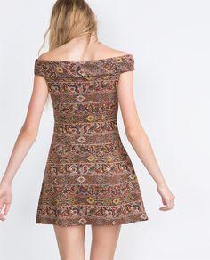 JACQUARD DRESS-View all-Dresses-WOMAN   ZARA United States