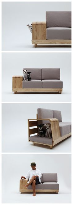 """I could find a nice spot in my flat for this sofa. /// """"The Dog House Sofa"""" by Korean designer Seungji Mun Pet Furniture, Modern Furniture, Furniture Design, Modern Sofa, Sofa Design, Interior Design, House Design, Home Decor, Couches"""