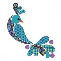 Peacock - Dotz - Applique