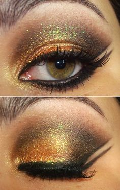 Maquiagem-egipcia-danca-do-belly-glitter - getting that perfect line next to your lashes.  use google translator