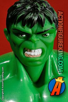 Even though this Incredible Hulk has a very distinct head-sculpt which is unlike the comic, you have to give Toybiz credit as this was an entirely new body with massive arms, hands, and feet that they created exclusively for this character. #hulk #actionfigures #toybiz #avengers