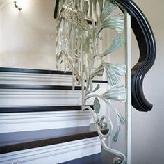 Home Decorators Collection Flooring Luxury Interior, Interior And Exterior, Wrought Iron Stair Railing, Interior Railings, Interior Design Institute, Blinds, Flooring, Mirror, Furniture