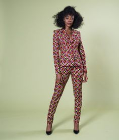 WORK WEAR INSPIRATION|AFRICAN PRINT SUIT