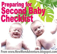 New Mom Survival Adventure: Second Baby Registry Check List