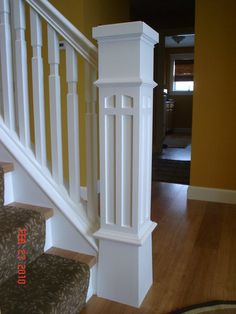 Newel Post and Stairs