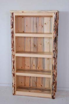 "Rustic Pine Bookcase - 60.5"". $1,059"
