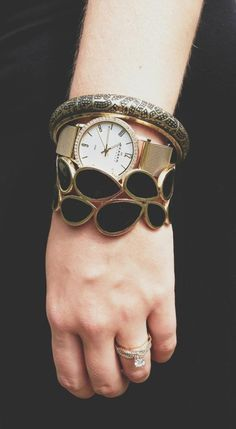 Hamilton and Katie bracelets would look great with the In Vogue watch (Skagen watch pictured here).