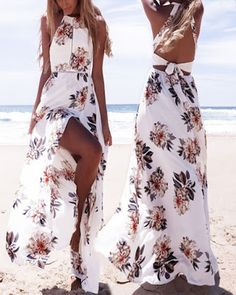 Vestidos para la PLAYA cortos y largos que están de MODA Teen Winter Outfits, Summer Outfits, Date Outfit Casual, Casual Outfits, Long Summer Dresses, Prom Dresses, Beachwear Fashion, Kawaii Clothes, Just In Case