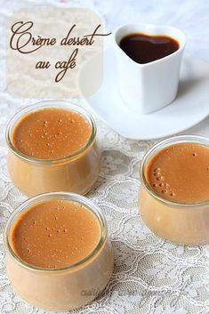 Danette coffee dessert cream discovered by Ʈђἰʂ Iᵴɲ'ʈ ᙢᶓ Mousse Dessert, Coffee Dessert, Parfait Desserts, Dessert Light, Ganache, Fudge Sauce, Foods With Gluten, Cream Recipes, Fondant