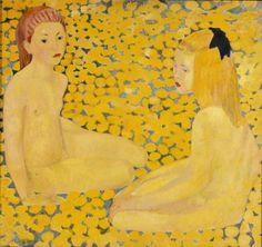 Cuno Amiet (1868-1961): Die gelben Mädchen, 1931, Kunstmuseum Bern, © M. und D. Thalmann, CH-3360 Herzogenbuchsee / © Kunstmuseum Bern