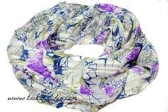 SALE - Flower Print Scarf, Shiny Floral Scarf, Printed Flower Scarf, Multicolor Flower Scarf, Flower Scarf, Print Scarf, Summer Scarf, Boho