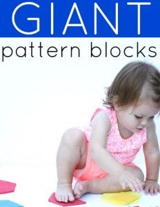 Freebie Download! Giant Pattern Blocks for Toddlers-pinned by @PediaStaff – Please Visit  ht.ly/63sNt for all our pediatric therapy pins