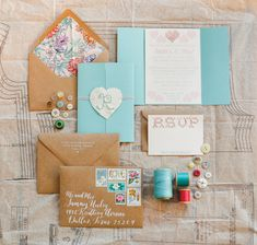 adorable wedding invitation set by Blue Eye Brown Eye (might be too girly for the groom?)