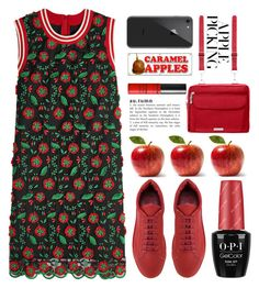 """Harvest Time: Apple Picking"" by grozdana-v ❤ liked on Polyvore featuring Anna Sui, Jil Sander, Baggallini, Forever 21 and applepicking"