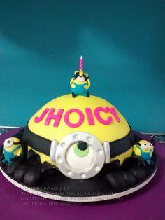 Bolo-Decorado-Minions/Minons cake