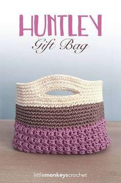Crochet bag 68187381844285993 - Crochet Pattern: Gift Bag Huntley Gift Bag Crochet Pattern by Source by ogierchantal Bag Crochet, Crochet Shell Stitch, Crochet Motifs, Crochet Handbags, Crochet Purses, Crochet Gifts, Free Crochet, Knitted Gifts, Crochet Baskets