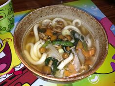 udon (thick Japanese wheat noodles)