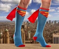 Superhero socks! Musthave and perfect geeky gift.