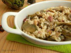 Risotto carciofi e speck, un primo piatto di stagione reso ancora più saporito dalla presenza della provola, la ricetta è semplice e veloce da realizzare.