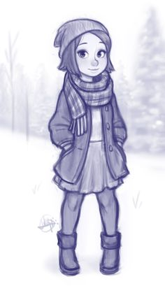 Snowy Day by LuigiL.deviantart.com on @DeviantArt