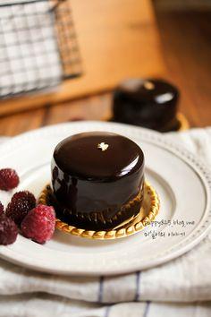 라즈베리 초콜릿 무스 케이크