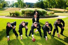 Groomsmen pose. They loved it