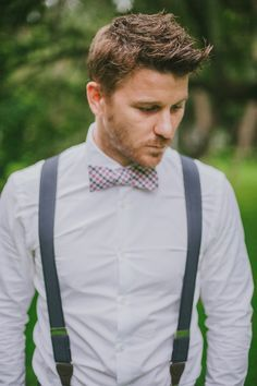 pink bowtie grey suspenders - Google Search