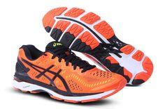 89118d64280 (Orange  Black  Safety Yellow) ASICS GEL KAYANO 23 Running Shoes   onitsukatiger