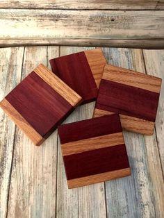 Love Style Rustique Scrabble Tile en bois Boissons Sous-verre dans support
